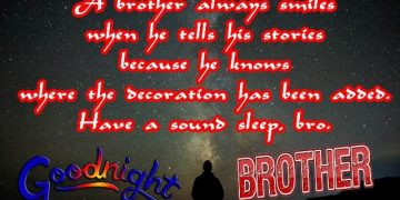 Good night wishes messages quotes status sms msg greetings cards wallpapers images photos picture for Brother bro siblings