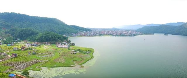 Phewa (Fewa) Lake in Pokhara Nepal