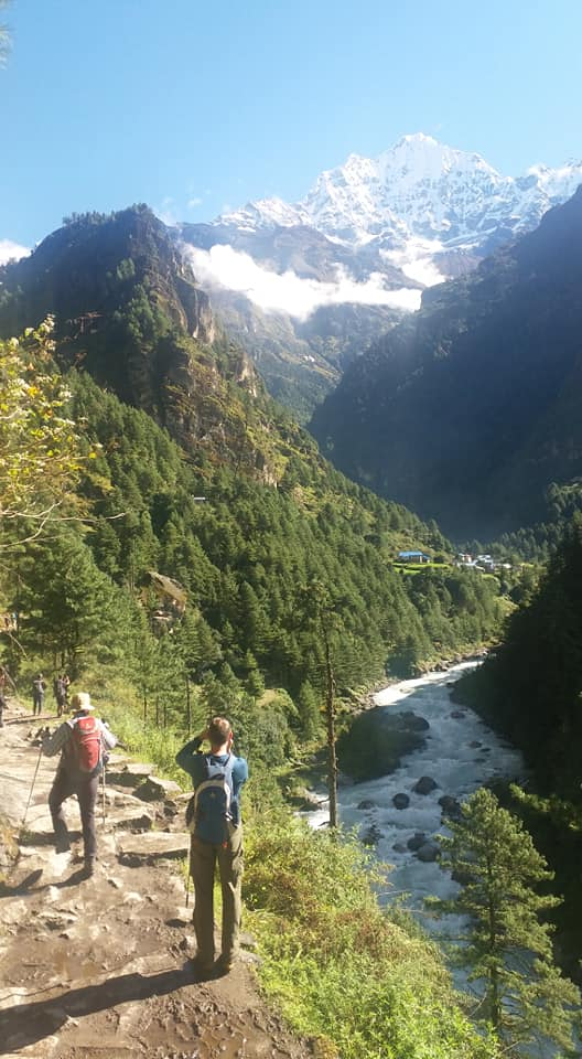 Trekking On The Way To Namche Bazar, Nepal