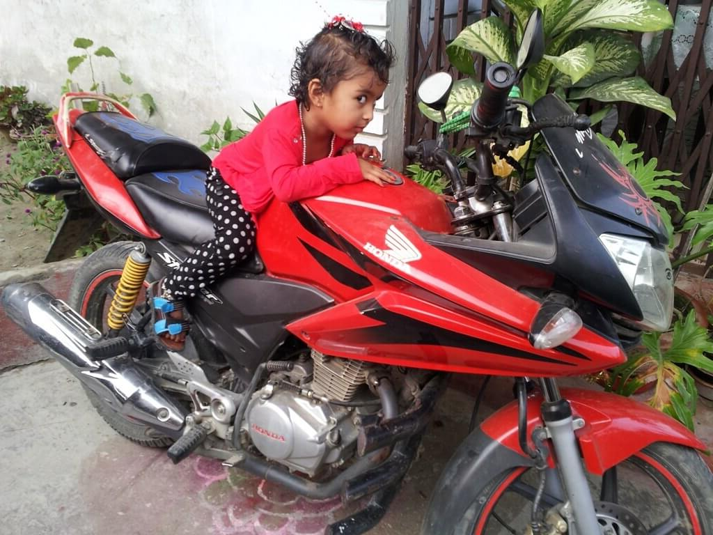 Baby Girl Riding Bike Picture