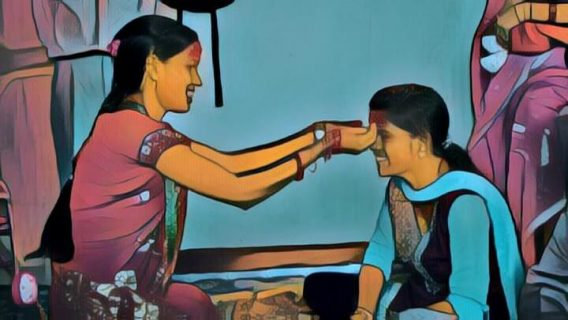 Dashain Sketch Painting Images