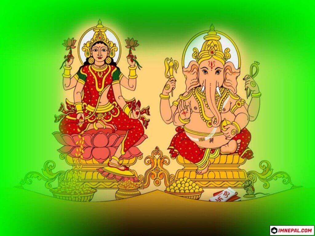 Mata Lakshmi Lord Ganesha Image