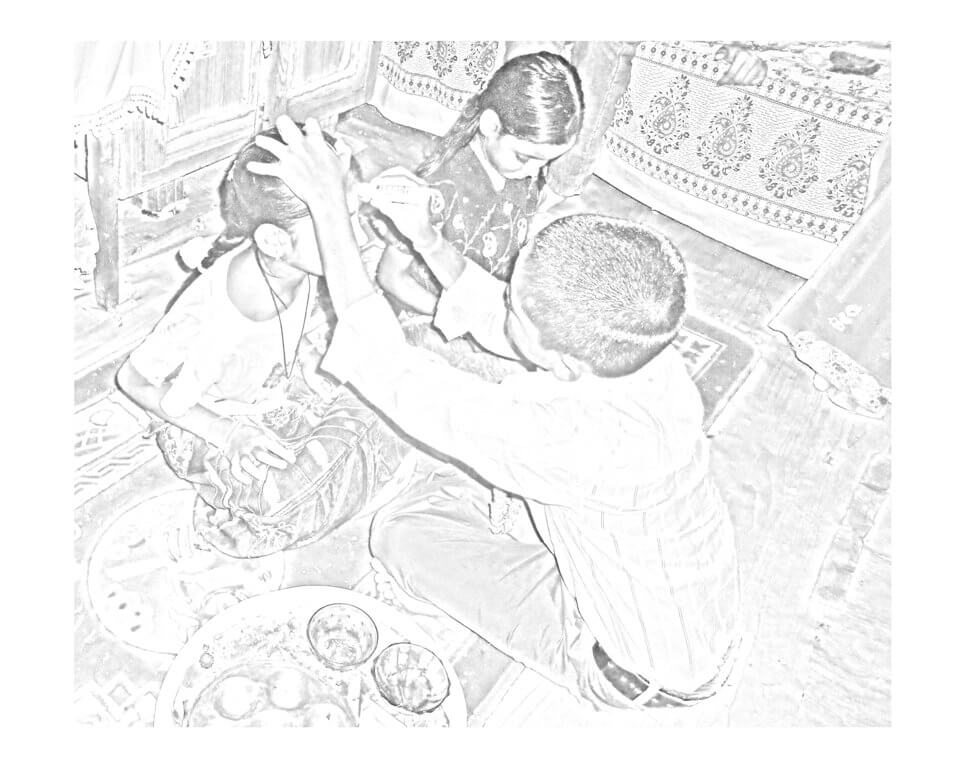 Bhai Tika Sketch Drawing Images Tihar Nepal