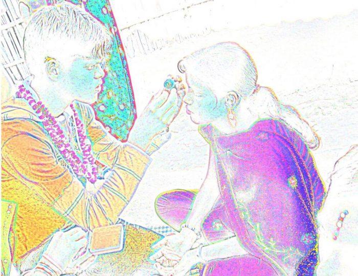 Bhai Tika Sketch Drawing Images Tihar Nepal