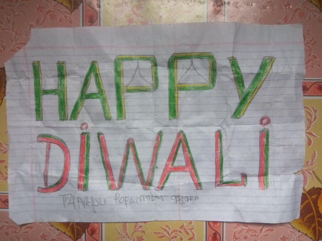 Happy Diwali Handmade greeting craft card