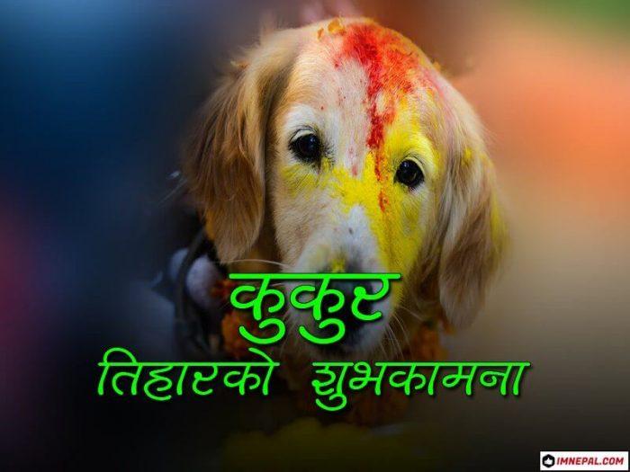 Happy Kukur Tihar Greetings Cards Image Nepal Dog Festival