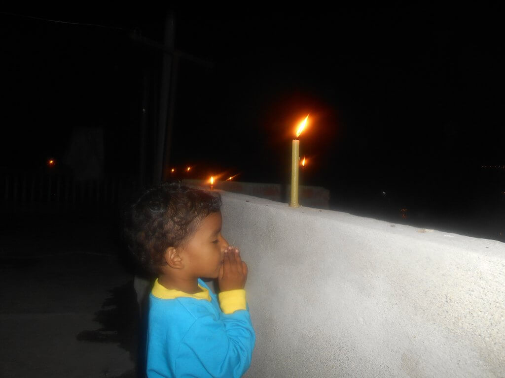 Kids Tihar Praying Candle Lights
