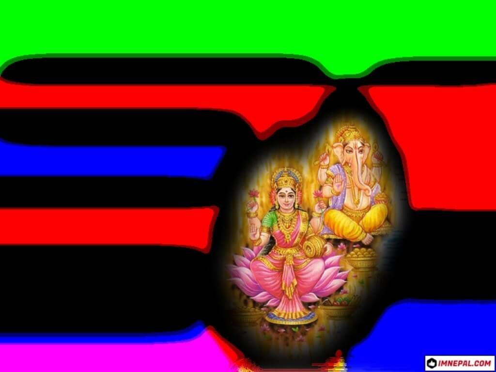 Mata Lakshmi & Lord Ganesha Images Wallpapers