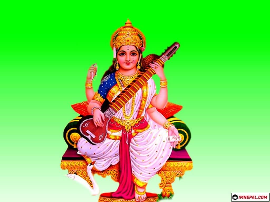 Hindu Goddess Saraswati Mata Images HD Wallpapers