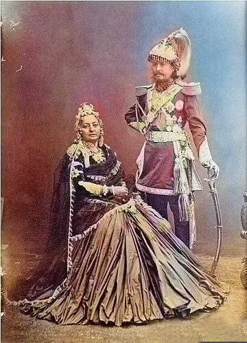 Jung Bahadur Rana With Wife