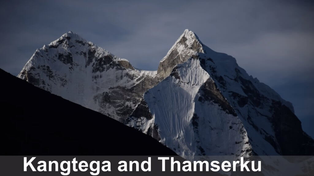 Mount Kangtega and Thamserku, Nepal