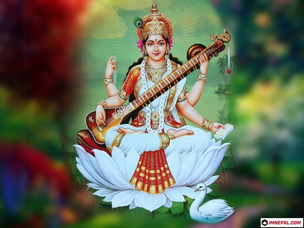 Saraswati Mata HD Wallpaper