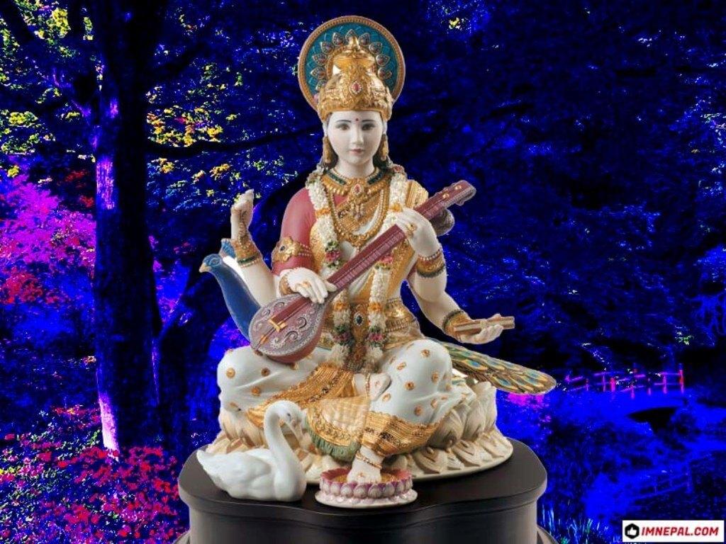 Hindu Goddess Saraswati Mata Images HD Wallpapers