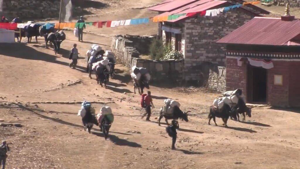 Tengboche Village near Namchhe bazaar, Nepal