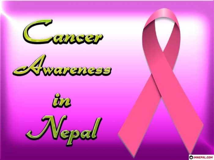 Cancer awareness in Nepal
