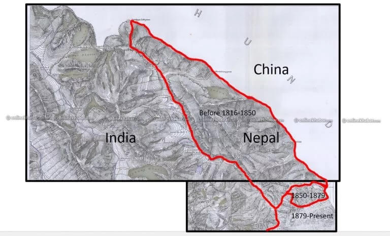 Evidence on these 12 maps of India's border encroachment on Kalapani of Nepal