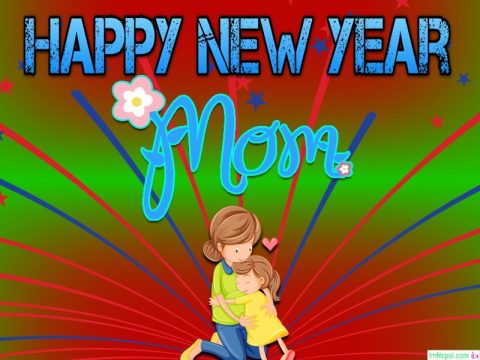 Happy New year wishes image for mother