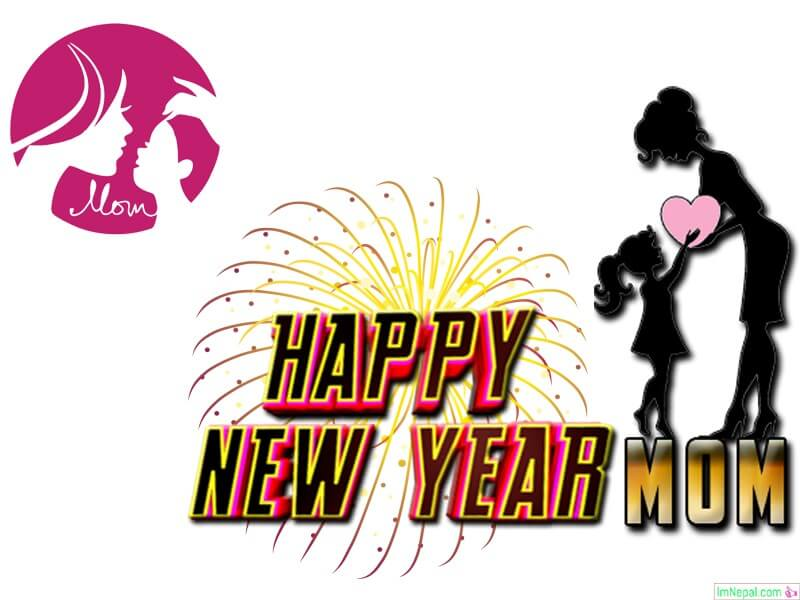 Happy New year wishes image for mom