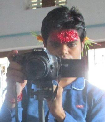 camera shooting picture in dashain festival