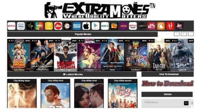 ExtraMovies 2020, A Website For Download Illegal HD Bollywood & Hollywood Movies Free Review