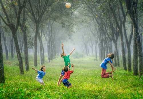 children playing image