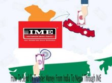 How to send or transfer money from India to Nepal throught IME