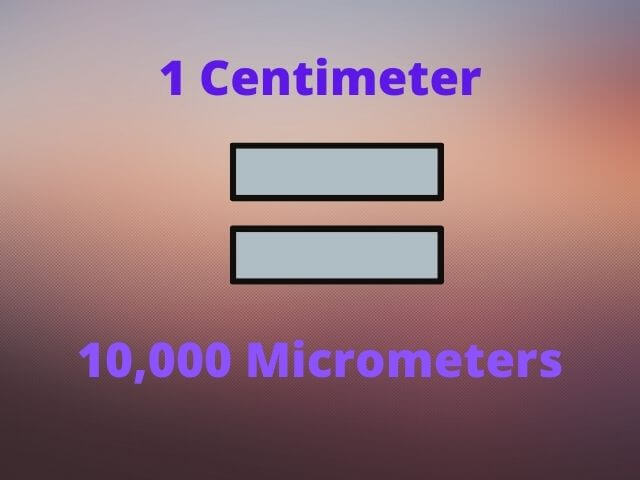 Centimeters to Micrometers converter