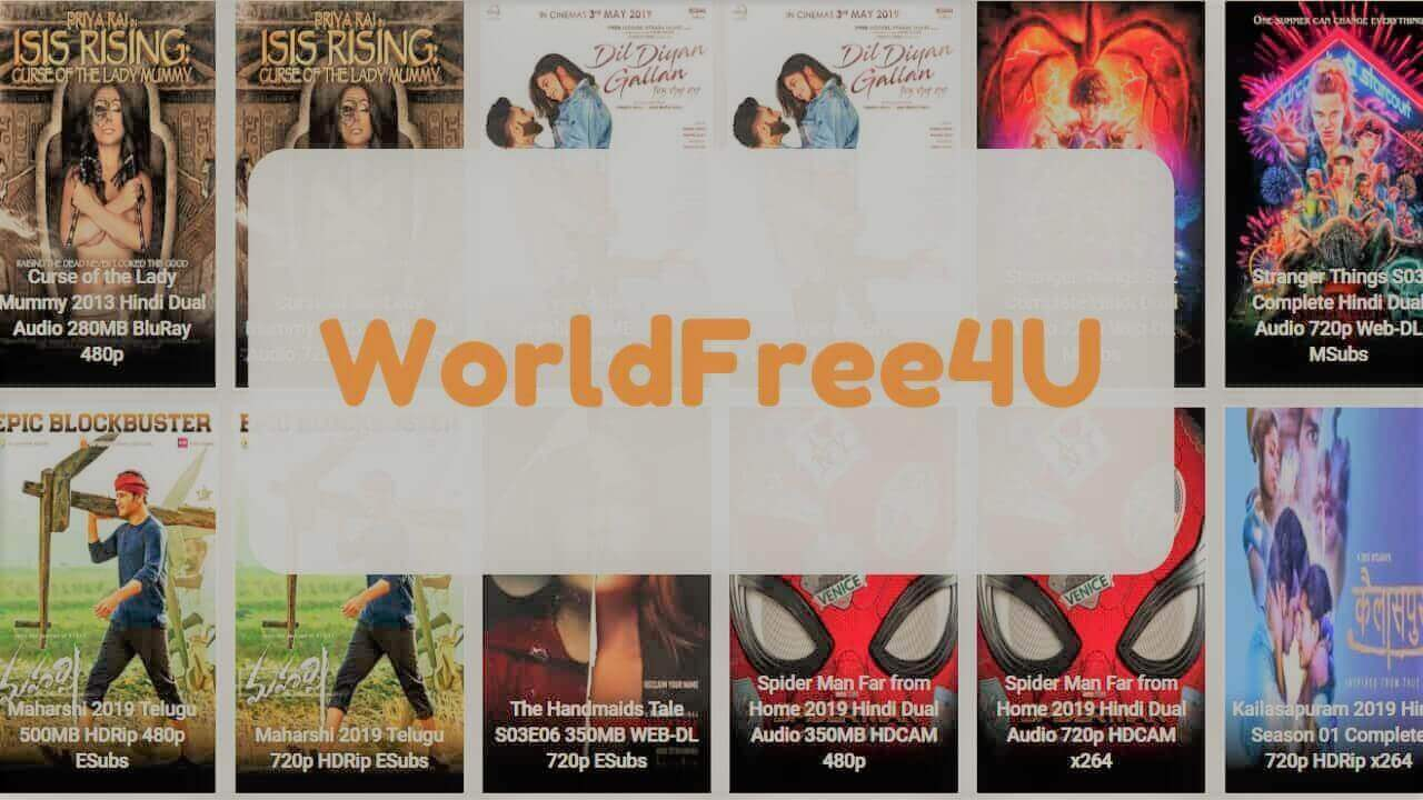 WorldFree4u 2021 – Illegal HD Movies Download Website Review