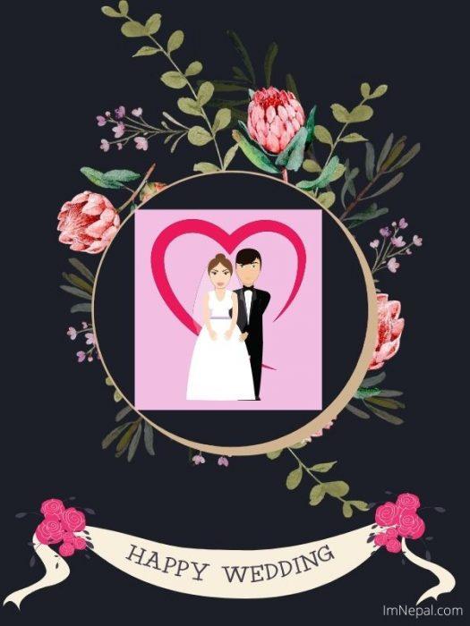 Happy Wedding Greeting Card