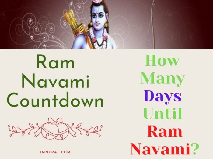 Ram Navami Countdown How many days until Ram Navami