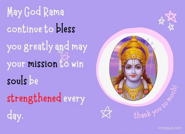 May God Rama continue to bless you greatly and may your mission to win souls be strengthened every day.