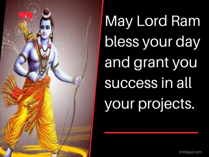 May Lord Ram bless your day and grant you success in all your projects. Happy Ram Navami Status In English