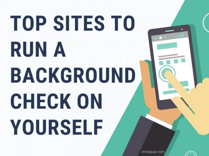 Sites to Run a Background Check on Yourself