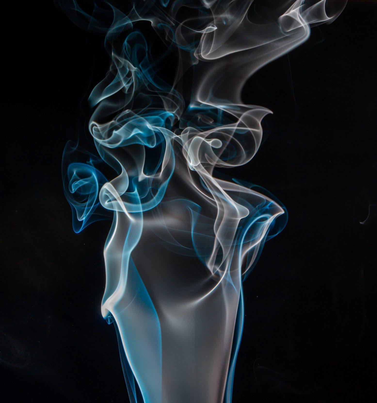 black wallpaper blue and white smoke