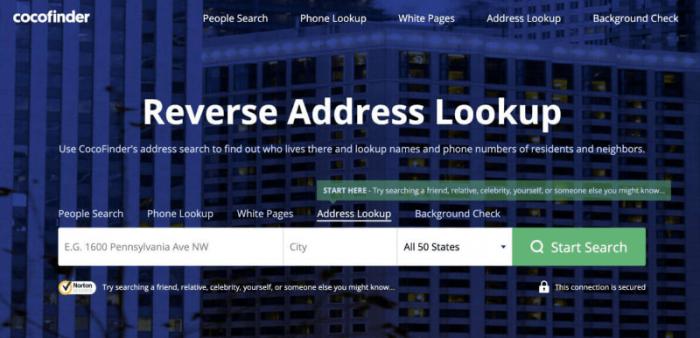 cocofinder Sites for Address Lookup