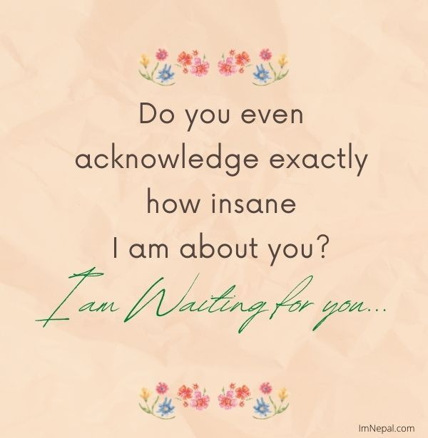 I am waiting for your love messages image