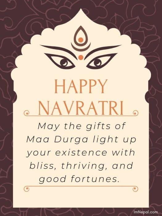 Happy navratri wishes image
